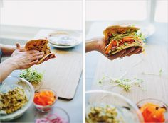 veggie naan'wich with feta chickpea mash // sprouted kitchen