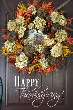 Happy Thanksgiving and Turkey Plate Wreath Harvest Decorations, Thanksgiving Decorations, Happy Thanksgiving, Holiday Decorations, Thanksgiving Recipes, Holiday Ideas, Turkey Plates, Deco Wreaths, Autumn Wreaths