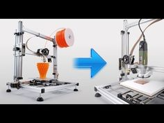 How to transfer 3D printer in a CNC milling machine