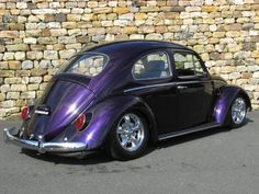 Beautiful metallic purple VW bug