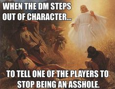 My DND. My DND was created for those with a love of Dungeons and Dragons, role playing games, and nerd culture. Dnd Funny, Funny Art, Lds Memes, Funny Memes, Nerd Memes, Hilarious, Dungeons And Dragons Memes, Dragon Memes, Gaming Memes