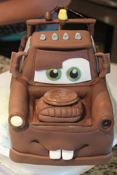 Tow Mater Birthday Cakes For Boys Cars Birthday Cake inside Mater Birthday Cake - Party Supplies Ideas Best Birthday Cake Recipe, Pretty Birthday Cakes, Novelty Birthday Cakes, Themed Birthday Cakes, Birthday Cakes For Boys, 31 Birthday, Tow Mater Cake, Car Cakes For Boys, Disney Cars Cake