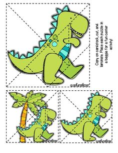 Dino-Grams tangram puzzles! Perfect for small groups & centers. Includes 11 puzzles & it's FREE!