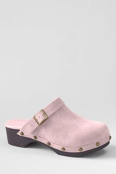 Lands' End Skylar Suede Clog - available in other colors - now on sale $14.99