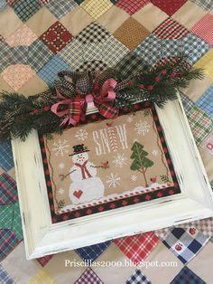 Hello friends! Isn't this snow cute?!? This is Snow Days from Country Cottage Needleworks.. My daughter stitched this and I finis...