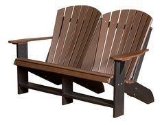 Heritage Double Adirondack Chair by Little Cottage Company