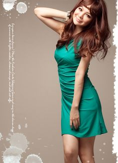 Pure Green Beads Decorated One Shoulder Dresses  Item Code:#FA7121+Green        Wholesale Price: US$9.99    Shipping Weight: 0.38KG