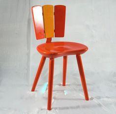 Origineller schöner Küchenstuhl mit geschwungen... von Schlüter Kunst und Design auf DaWanda.com