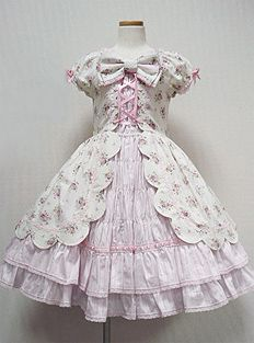 Angelic Pretty / One Piece / Rose Bouquet Scalloped OP