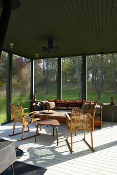 A screened porch that delivers the best of both worlds — indoors and out.