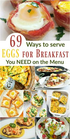 69 Ways to Serve Eggs for Breakfast You Need on the Menu Healthy Fast Food Breakfast, Delicious Breakfast Recipes, Brunch Recipes, Gourmet Recipes, Healthy Recipes, Ways To Cook Eggs, Vegetarian Stew, Muffins, Best Instant Pot Recipe