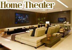 Home Theater - veja 30 salas decoradas, mais dicas e tendências!