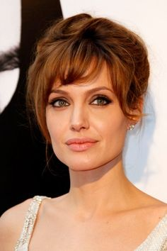 Bangs - Angelina Jolie at the Paris Salt premiere