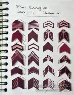 StampingMathilda: Stamp Carving 101 - Chevron Set