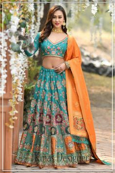 --->Kinas Designer is your one-stop shop for all types of Bridal Wear Collection. --->For more information contact us (Call/Whatsapp): +91 78028 85280 #lehenga #bridallehenga #weddinglenega #designerlehenga #lehengacholi #indianwedding #indianfashion #indianbride #weddingdress #bridalwear #bridal #indianwear#anarkalilehenga #bride #instafashion #style #traditionallehenga#india #sabyasanchi #manishmalhotra #handworklehenga Lehenga Choli Online, Bridal Lehenga Choli, Silk Lehenga, Silk Dupatta, Green Lehenga, Party Wear Lehenga, Lehenga Designs, Choli Designs, Blouse Designs