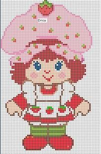 Strawberry Shortcake Cross Stitch Patterns | Found on encantosempontocruz-barbie.blogspot.com.es