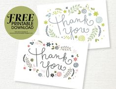 Thank You Note Wedding Thank You Cards Personalized Thanks Illustrated Thank You Cards Printable Thank You Card Thank You Cards #IPG