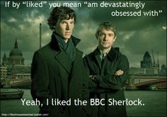 "If by ""liked"" you mean ""am devastatingly obsessed with,"" than, yeah, I liked the BBC Sherlock."