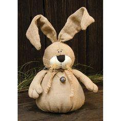 """Burlap Bunny 15"""""""