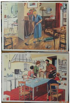 AFFICHE SCOLAIRE ROSSIGNOL 76X 56 CM Pub Vintage, Puzzle Art, Vacuum Cleaners, Old Ads, Sweet Life, Vintage Images, Decoupage, Childhood, Animation