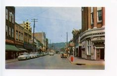 Moundsville WV Street View Rexall Drugs Old Cars Vintage Store Fronts Postcard | eBay