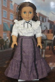 Ag Doll Clothes, Doll Clothes Patterns, Clothing Patterns, Doll Dresses, Girls Dresses, American Girl Dress, Paisley Design, Girl Style, Girl Dolls