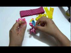 moños y flores faciles en cinta para decorar accesorios  para el cabello...