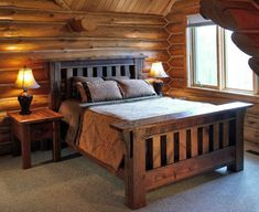 Sweet Design Of Barnwood Mission Style Bed Traditional Beds Other Metro