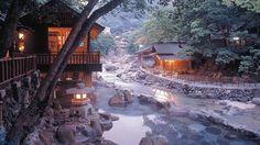 Diez piscinas naturales de agua caliente en parajes increíbles. Osenkaku (Japón)