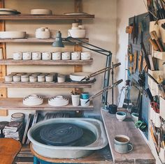 Unusually clean wheel ready to throw some new work for Carshalton Artists Open Studios this summer. I will be opening my studio June and 30 July. Studio Shed, Clay Studio, Ceramic Studio, Workshop Studio, Dream Studio, Pottery Workshop, Ceramic Workshop, Pottery Studio, Home Art Studios