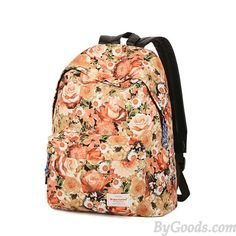 Fresh Romantic Floral Flowers Pattern Travel Backpack School Bag only $36.99 in ByGoods.com!