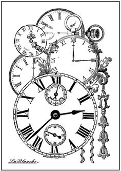 LaBlanche Silicone Stamp - Heaped Clocks