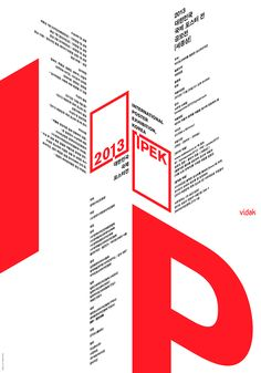 2013 International Poster Exhibition, Korea on Behance Typo Poster, Typographic Poster, Poster Layout, Poster Design, Graphic Design Posters, Book Layout, Modern Graphic Design, Graphic Design Typography, Graphic Design Inspiration