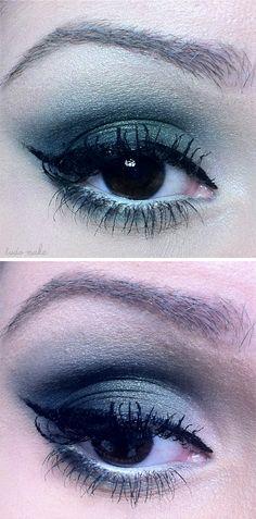 Passo a Passo maquiagem azul, verde e dourada - paleta 06 Glam - Vult - ariadne…