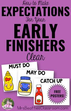 How to Make Your Expectations for Early Finishers Clear
