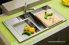 Modern kitchen sink - Moderna instalaciones de bacha fregadero multifuncional de cocina