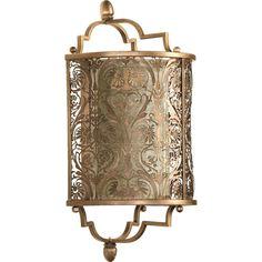 Quorum International QIN-5597-18 French Damask Vintage Pewter Wall Sconces Lighting |eFaucets.com