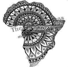 Mandala Print-Africa Print-Ink by TheCasualCanvas on Etsy