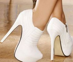 Trendy High Heels For Ladies : Escarpins women white heels 15 cm size 35 www. Dream Shoes, Crazy Shoes, Me Too Shoes, Pretty Shoes, Beautiful Shoes, Hot Shoes, Shoes Heels, Sexy Heels, Nike Shoes