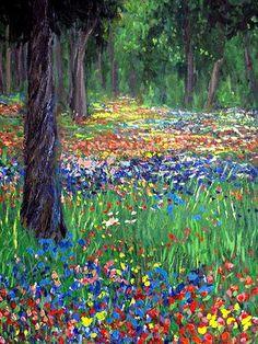 Zwischen New York und Bosten, ist eine der Landschaften, die Paul Crimi immer wieder gemalt hat.  Licht und Stimmung hat Paul Crimi beeinflusst.