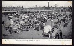 PRE 1906 WALLABOUT MARKET BROOKLYN NEW YORK*#2007*ILLUSTRATED POSTCARD CO*UNUSED