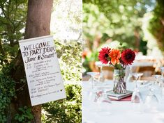 awesome and simple wedding schedule for guests