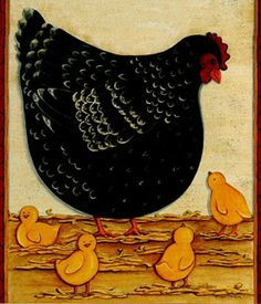 clipart imagem decoupage Chicken 7
