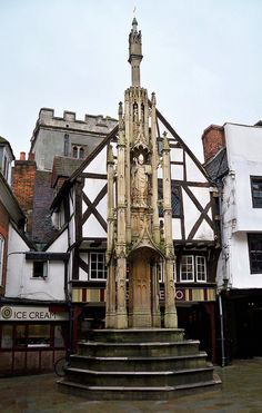 The Buttercross, Winchester, Hampshire. Sat on these steps. Looks like I have to go back.