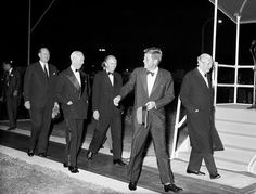 Special relationship: John F Kennedy with then Prime Minister Harold Macmillan and Foreign Secretary Alec Douglas-Home