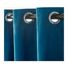 SANELA Curtains, 1 pair, dark turquoise dark turquoise 55x98