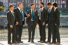 men with blue ties.  no yellow though