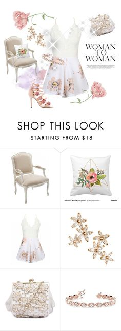 """Floral dream"" by hopskipjumppaper ❤ liked on Polyvore featuring Bonheur, Allurez and Marchesa"