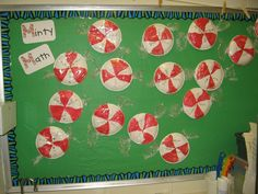 fact families...or problems equaling the number.  Subtraction on the red, and addition on the white.