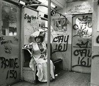 Editta Sherman on the subway, 1968-1976